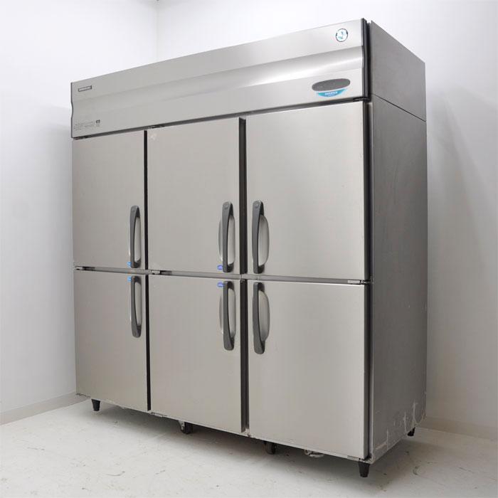 ホシザキ 業務用 タテ型 冷凍冷蔵庫 4凍2蔵 6枚扉 HRF-180X4F3 2010年【中古】