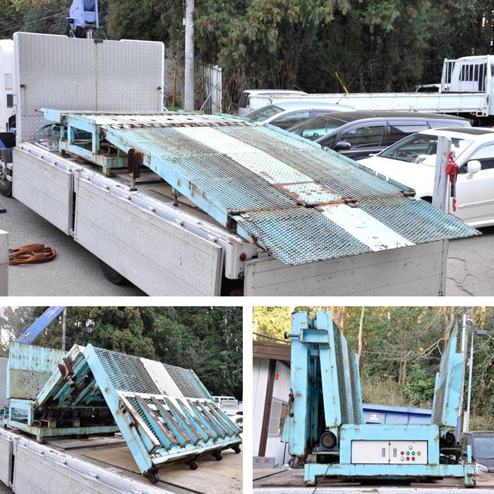 ターンナップボード 可搬式作業台 大型 電動 スロープ【中古】