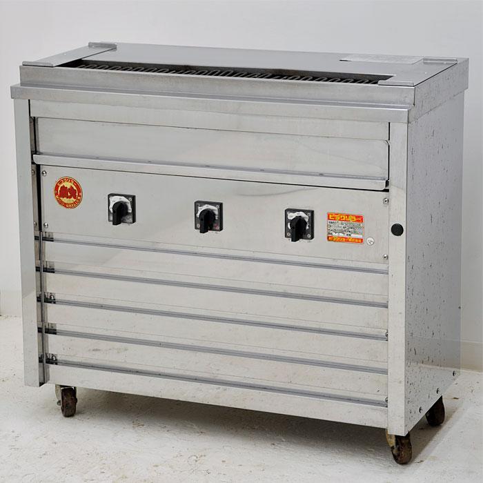ヒゴグリラー 焼鳥専用焼物器 3P-208K 床置型 電気式 【中古】