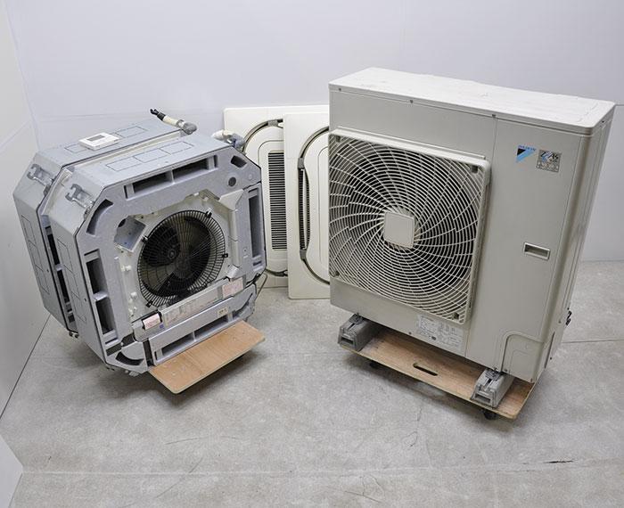 ダイキン 天カセ パッケージエアコン ツイン 室内機FHCP56BC 室外機RZYP112CA 4馬力 2013年製 【中古】