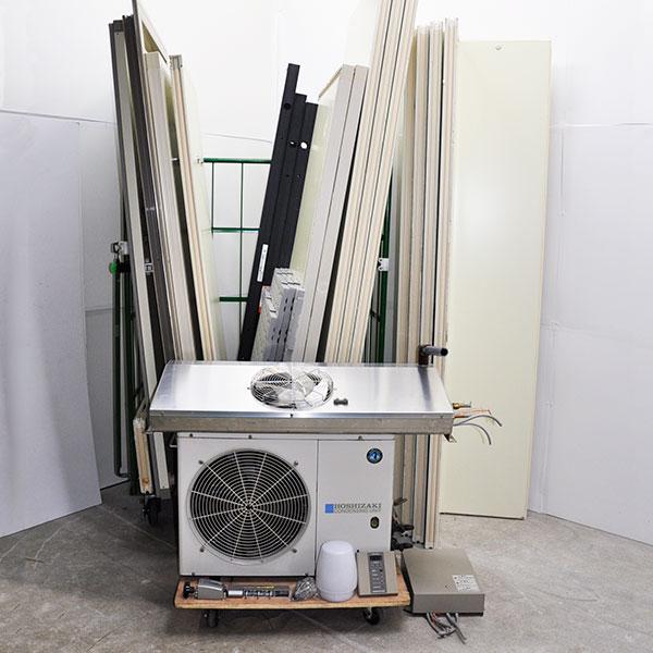 ホシザキ プレハブ冷蔵庫 1坪 PR-22CC-1.0 冷蔵用冷却ユニット 外機 HUS-8RA-UC 内機 業務用 2012年製 【中古】