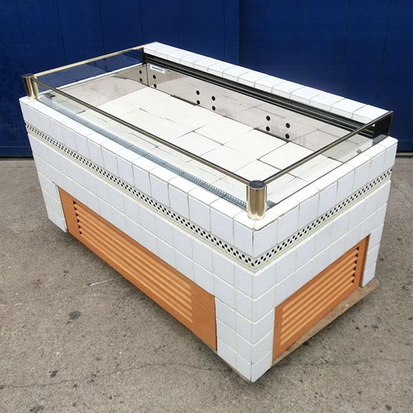 和田製作所 オープン冷蔵ショーケース タイル貼り仕様 W1500×D800×H800 2005年 【中古】