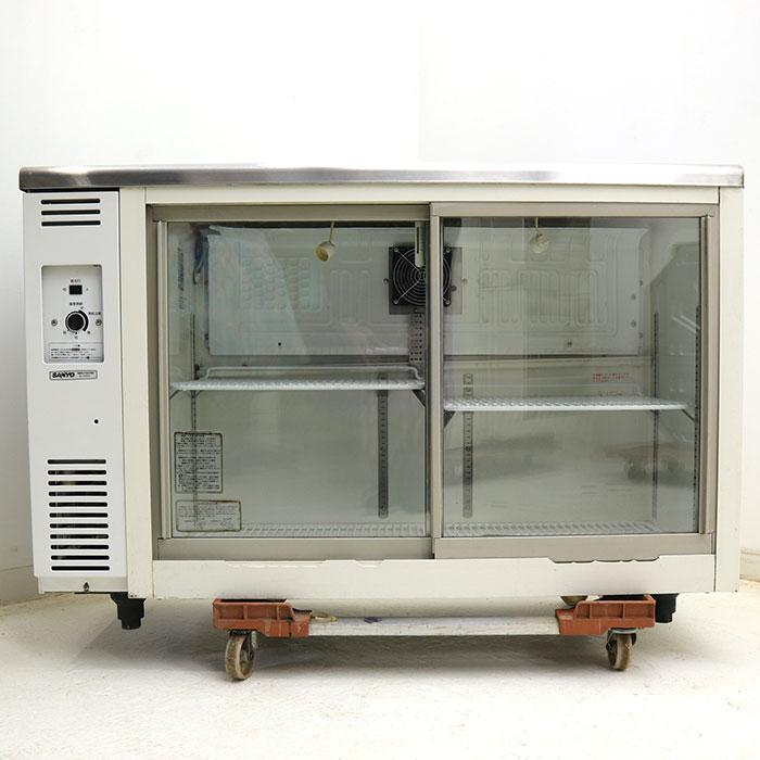 サンヨー SANYO 冷蔵ショーケース アンダーカウンター スライド扉 220L SMR-V1241NA 2006年 【中古】