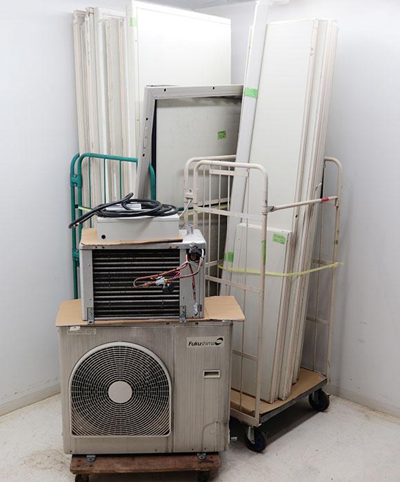フクシマ プレハブ冷凍冷蔵庫 インバーター冷凍機 ACT-020VR2 ユニットクーラー PEP-26RH4 2014年 1.5坪 【中古】