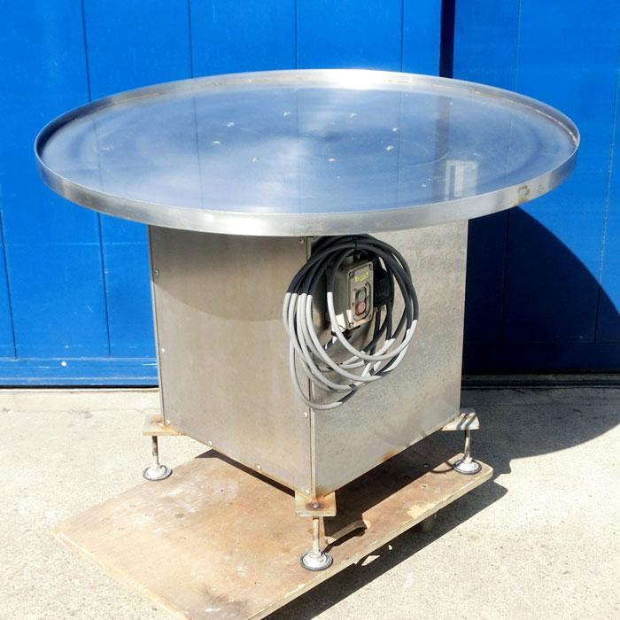 メーカー 型式不明 電動ターンテーブル 直径1050×幅455×高755 【中古】