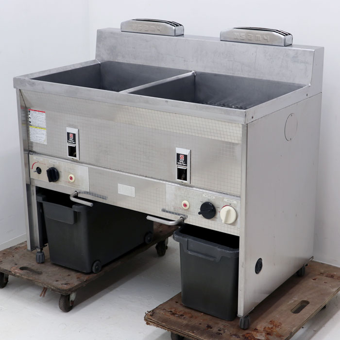 サミー フライヤー SF-023W ガス・マッチ点火方式 都市ガス仕様 業務用 厨房機器 【中古】