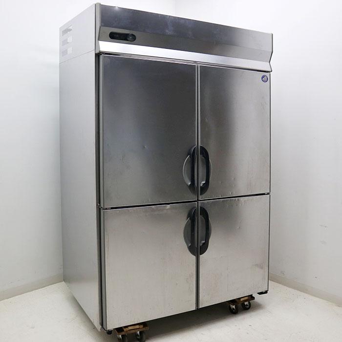 サンヨー 業務用 タテ型 冷蔵庫 SRR-G1581S 4枚扉 2008年 【中古】