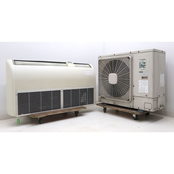 HITACHI 日立アプライアンス 天吊り型エアコン 3馬力相当 RAS-AP80HVM 2007年 業務用 店舗用 【中古】