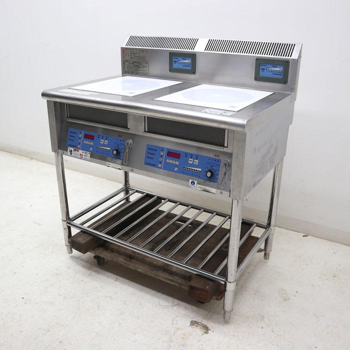 ニチワ 業務用 IH調理器 2連 MIR-1033SAMP 電磁調理器 IHコンロ 2003年 【中古】