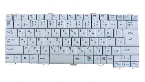 富士通:▲FMV-NB15B用 ノートパソコン キーボード 新品 白 CP176976-01 〔対応機種〕NB15B、NB15BP、NB15B/S