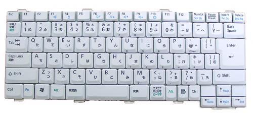 富士通:● FMV-NB40M用 ノートパソコン キーボード 新品 グレー CP216119-02 〔対応機種〕・NB50J FMVNB50J FMVNB50JP