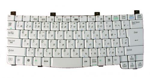 SHARP:MebiusPC-AL50等用 ノートパソコン キーボード 新品 K030118I1 白 〔対応機種〕・SHARP PC-ALシリーズ/ ・PC-AL3DH、PC-AL50F、PC-AL50FY、PC-AL50FZ