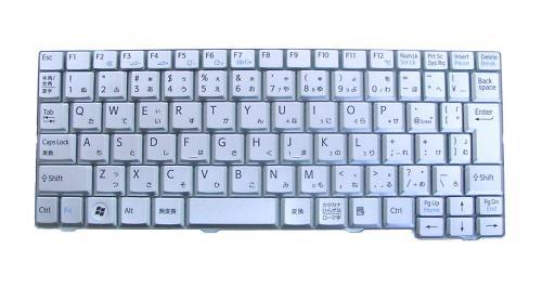 SONY:VAIOネットブック Mシリーズ用 ノートパソコン キーボード 新品 グレー V091978CJ1 〔対応機種〕・VAIOネットブックMシリーズ