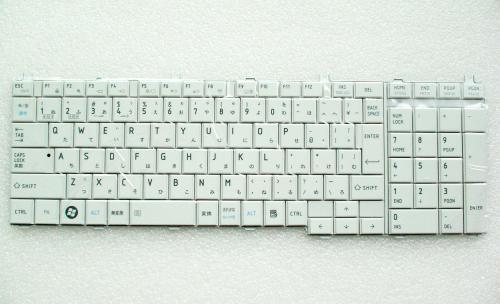 東芝:ノートパソコン 用 キーボード 新品 白 NSK-TN1GV 0J