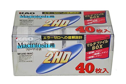 花王 MF2HDMACP40PNW マッキントッシュ 3.5型フロッピーディスク40枚入 【4901301037374 】