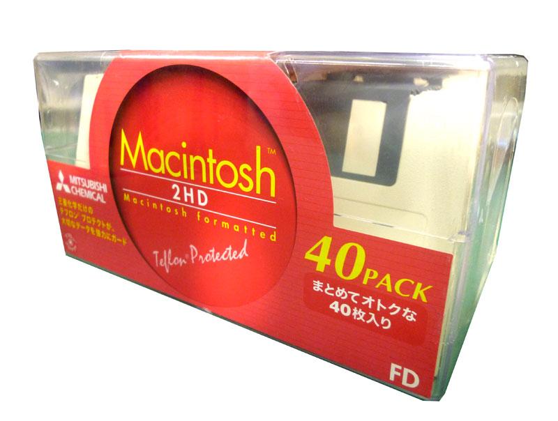 三菱化学 2HDM40 3.5型フロッピーディスク MAC用 2HD 40枚入 【4991348032104】