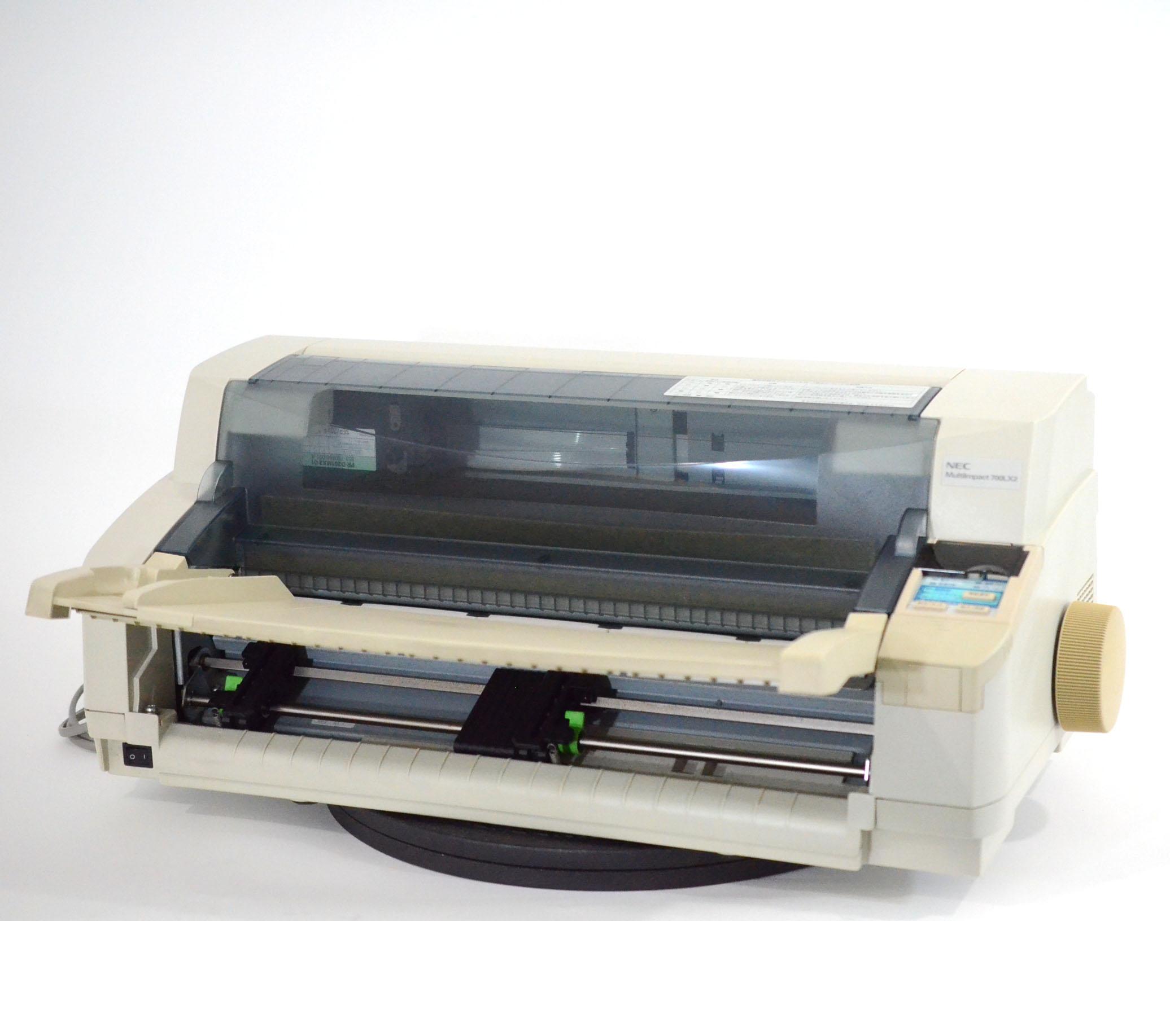 【中古】NEC ドットプリンター MultiImpact700LX2 伝票 複写 水平型