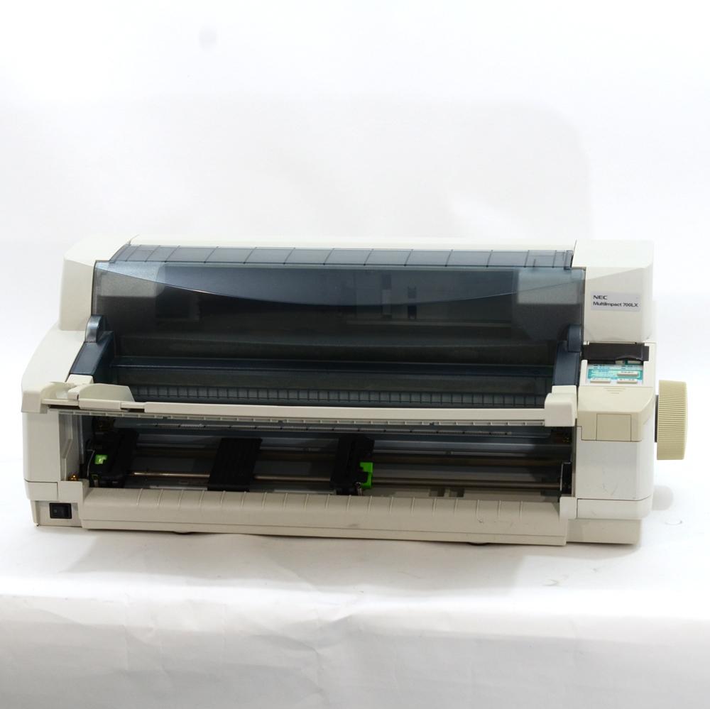 【中古】NEC ドットプリンター MultiImpact700LX 伝票 複写 水平型