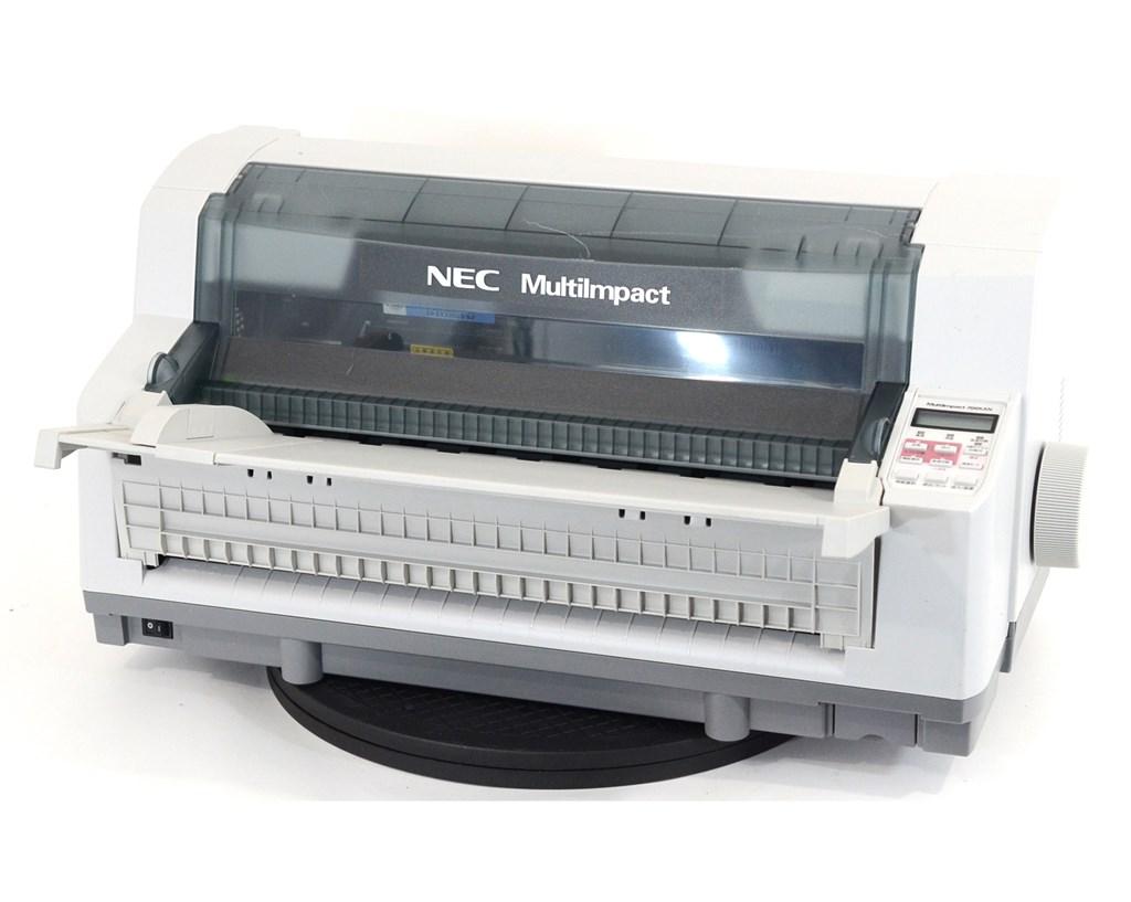 【中古】NEC ドットインパクトプリンター MultiImpact700XAN 伝票 複写 水平型