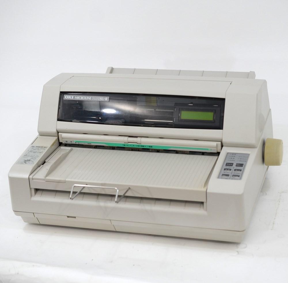 【中古】OKI ドットプリンター MICROLINE 5650SU-R 美品 伝票 複写 水平型