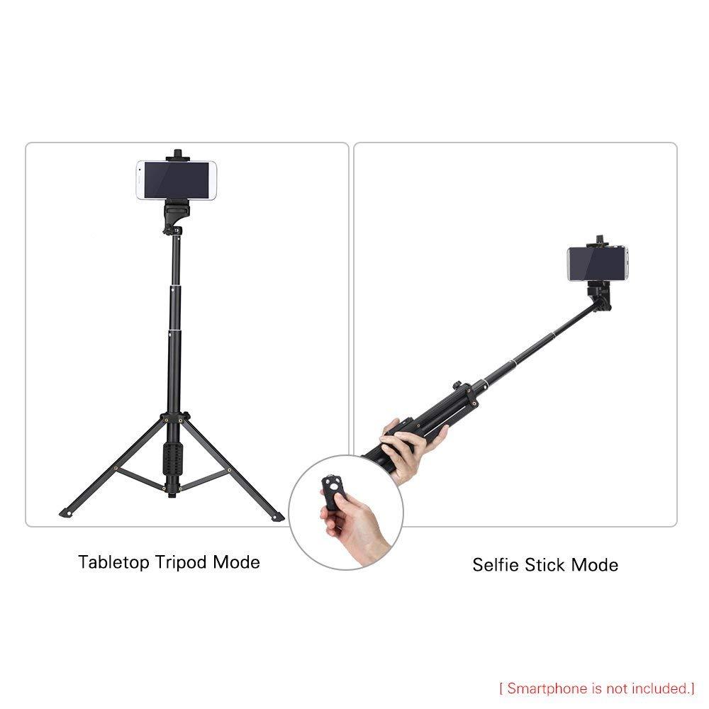 デジカメ 三脚 iphone 三脚 スマホ 三脚 セルカ棒 自撮り棒 リモコン 134cm 五段 調節可能 無線 折り畳み式 伸縮自在 360度回転 アルミ合金 iphone x/8/8 plus/7/7 plus/ 6/5/Galaxy Note 8/S8 /S8 Plus/ Android/SONY/GoPro/canon/nikon カメラなどに