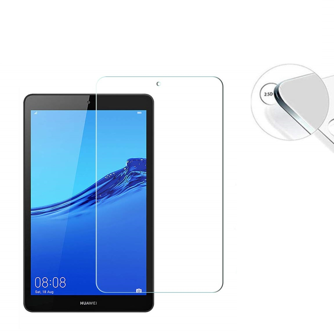 HUAWEI MediaPad M5 Lite 8.0 強化ガラス JDN2-L09 対応 【送料無料】HUAWEI MediaPad M5 Lite 8.0 強化ガラス 液晶保護フィルム ガラスフィルム 耐指紋 撥油性 表面硬度 9H 業界最薄0.3mmのガラスを採用 2.5D ラウンドエッジ加工 JDN2-L09 対応