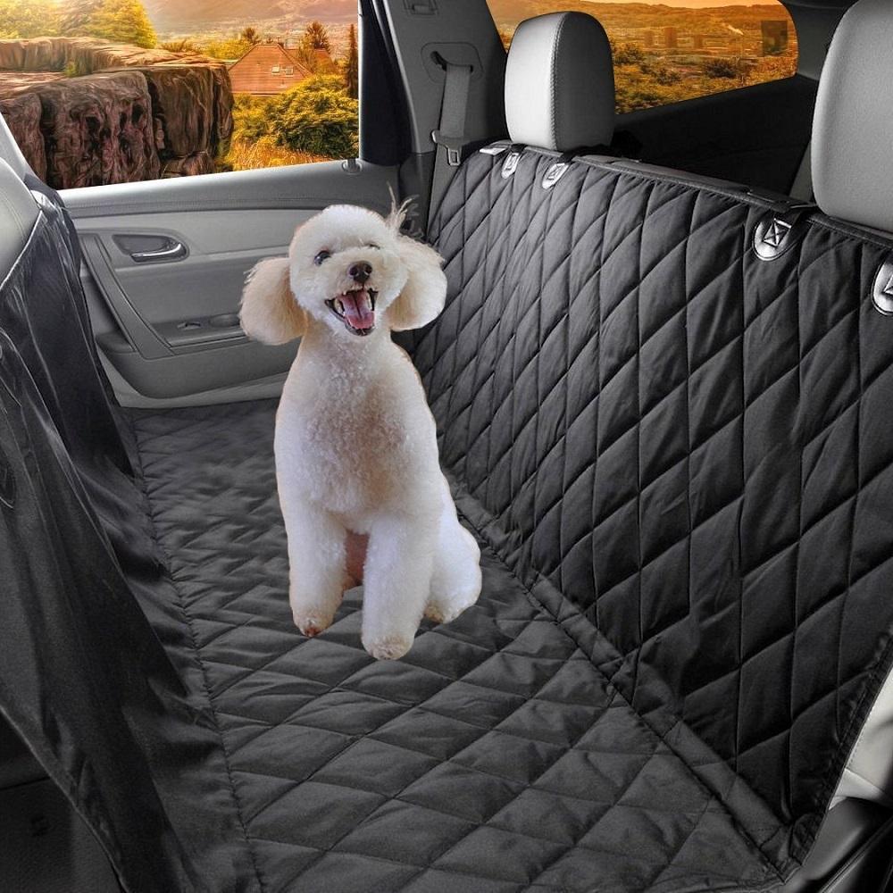 新型ペット用ドライブシート 車用ペットシート カーシートカバー 滑り止め 高品質 防水 引出物 水洗い可能 撥水 取り付け簡単 カーシート 全種犬用猫用 後部座席 コンパクト お出掛け用品 折りたたみ セール価格