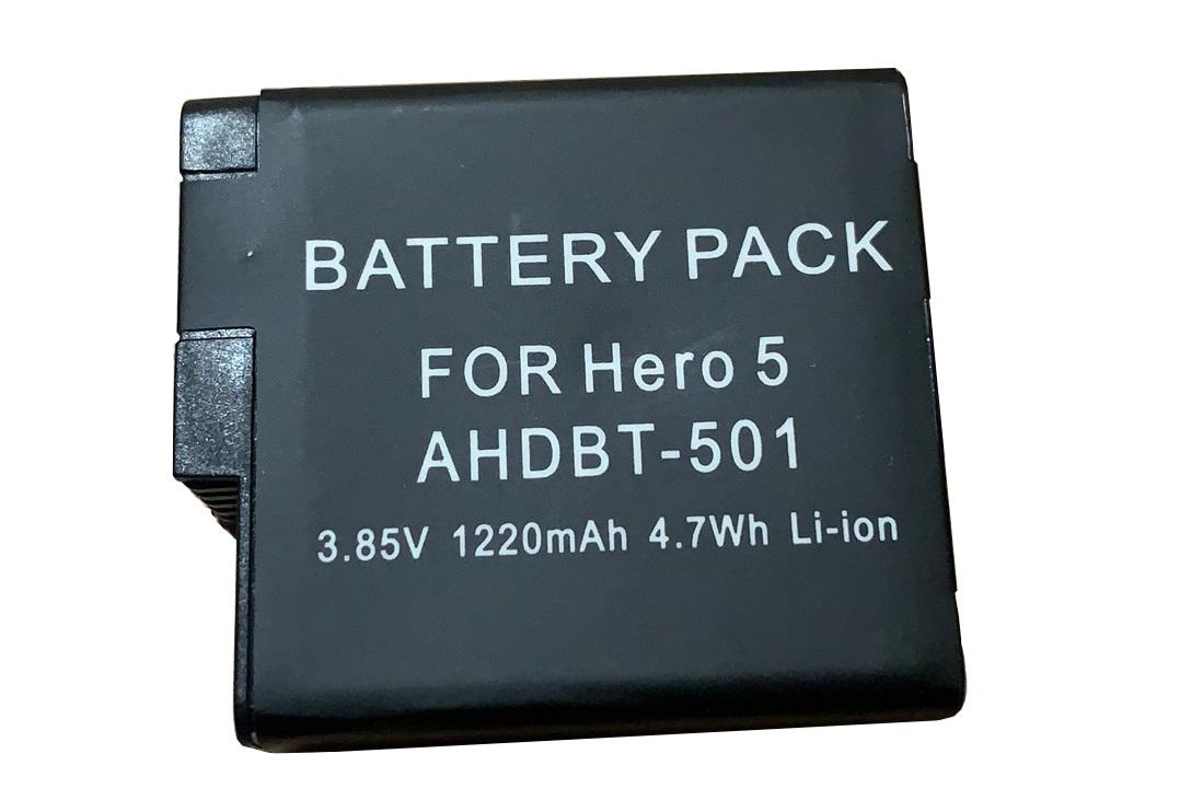 最新ファームウエア対応 HERO6 HERO5 専用バッテリー 送料無料 GoPro バッテリー ゴープロ 互換 AHDBT-501 Black 新作からSALEアイテム等お得な商品 満載 対応 超目玉