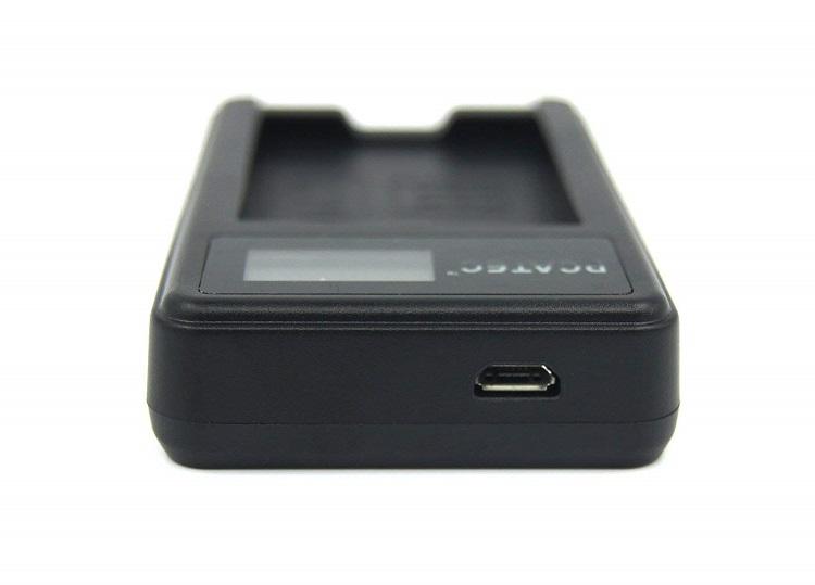 SONY NP-FW50対応☆PCATEC™新型USB充電器☆LCD付4段階表示仕様☆USBバッテリーチャージャー ☆NEX-7K/NEX-6/NEX-5N SLT-A55V/SLT-A33/ NEX-5A等対応