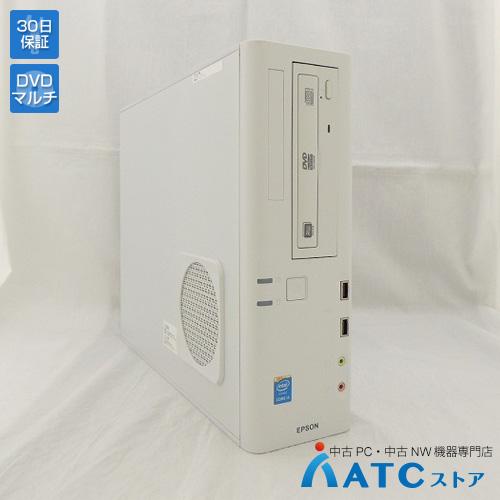 【中古デスクトップパソコン】EPSON/Endeavor AT992E/Core i3-4150 3.50GHz/HDD 500GB/メモリ 4GB/Windows 10 Professional 64bit【優】