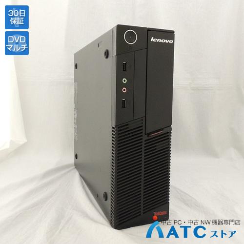 【中古デスクトップパソコン】Lenovo/ThinkCentre A58/7522RF8/Core2Duo E7500 2.93GHz/HDD 250GB/メモリ 4GB/Windows 7 Professional 32bit【良】