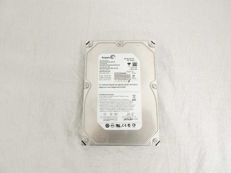 3.5インチ 750GB SATA ハードディスク[Seagate][HDD] 【中古】Seagate 7.2K 16MB