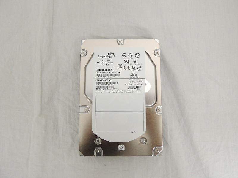 【中古】Seagate 450GB 15K 16MB SAS 3.5インチ ハードディスク[Seagate][HDD]