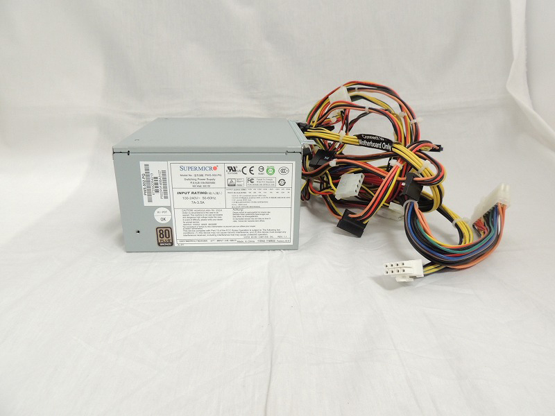 【中古】Supermicro 500W Multi-Output PS2/ATX Power Supply[Supermicro][PSU]