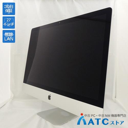 【中古デスクトップパソコン】Apple/iMac/ME089J/A/Core i5 3.4GHz/HDD1TB/メモリ16GB/27インチ/Mac OS X 10.10【良】