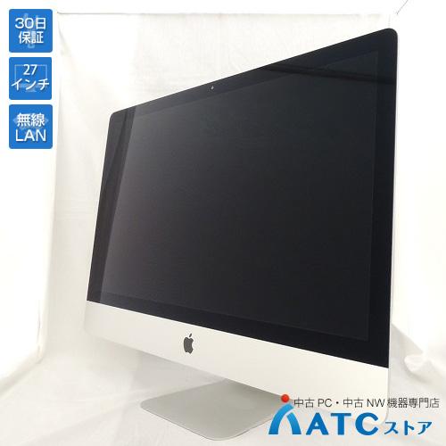 【中古デスクトップパソコン】Apple/iMac/ME088J/A/Core i5 3.2GHz/1TB FusionDrive/メモリ16GB/27インチ/Mac OS X 10.10【良】