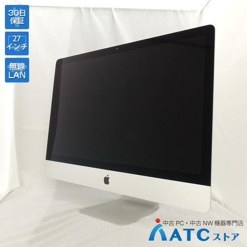 【中古デスクトップパソコン】Apple/iMac/ME088J/A/Core i5 3.2GHz/HDD 1TB/メモリ16GB/27インチ/Mac OS X 10.10【良】