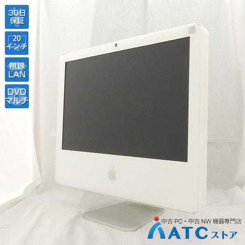 【中古デスクトップパソコン】Apple/iMac/MA589J/A/Core2Duo 2.33GHz/HDD 250GB/メモリ 2GB/20インチ/Mac OS X 10.4【良】