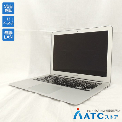 【中古ノートパソコン】Apple/MacBook Air/MMGF2J/A/Core i5 1.6GHz/SSD 128GB/メモリ8GB/13.3インチ/Mac OS X 10.12【可】