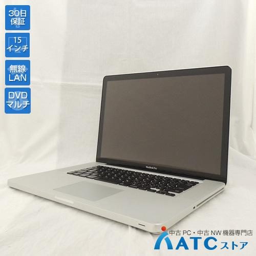 【中古ノートパソコン】Apple/MacBook Pro/MD103J/A/Core i7 2.3GHz/HDD 500GB/メモリ4GB/15.4インチ/Mac OS X 10.8【良】