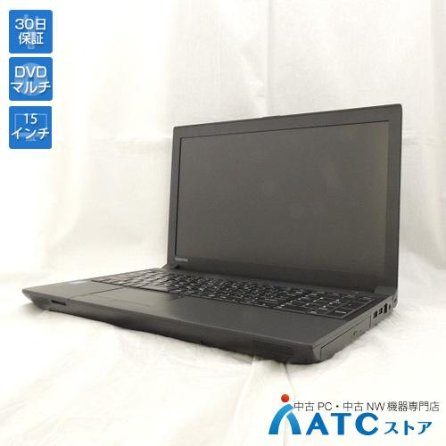 【中古ノートパソコン】TOSHIBA/dynaBook Satellite B554/PB554LBB1R7JA71/Core i5-4300M 2.60GHz/HDD 320GB/メモリ 4GB/15.6インチ/Windows 7 Professional 32bit【可】