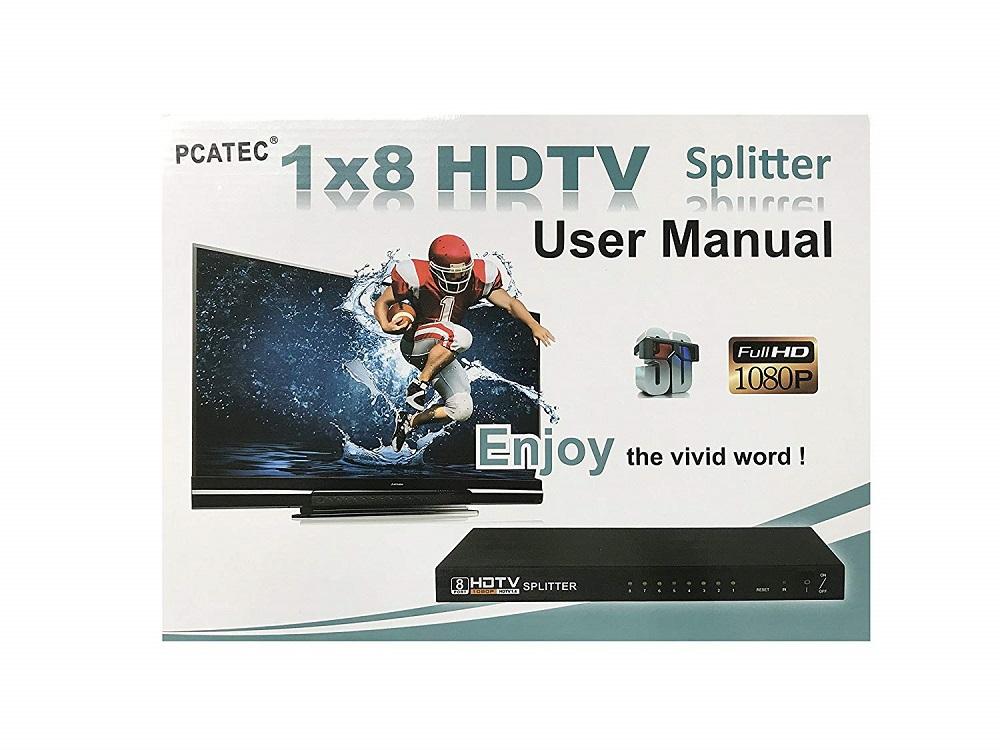 HDMI(オス) to 8HDMI(メス)分配器☆コンパクトタイプ☆3D対応 V1.4 1080P☆HDMI 1X8 スプリッター【P25Apr15】
