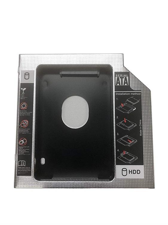 【送料無料】2nd 12.7mmノートPCドライブマウンタ セカンド 光学ドライブベイ用 SATA/HDD 2.5インチハードディスクマウンタ SATA接続 12.7mm厚のSlimline SATAドライブを搭載したノートPC対応