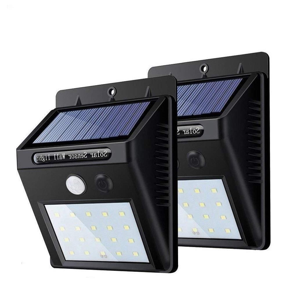 送料無料 センサーライト 2個セット ソーラーライト 20LED 限定タイムセール 屋外照明 自動点灯 太陽光発電 駐車場 防水 玄関 防犯ライト 取付簡単 超激安 外灯