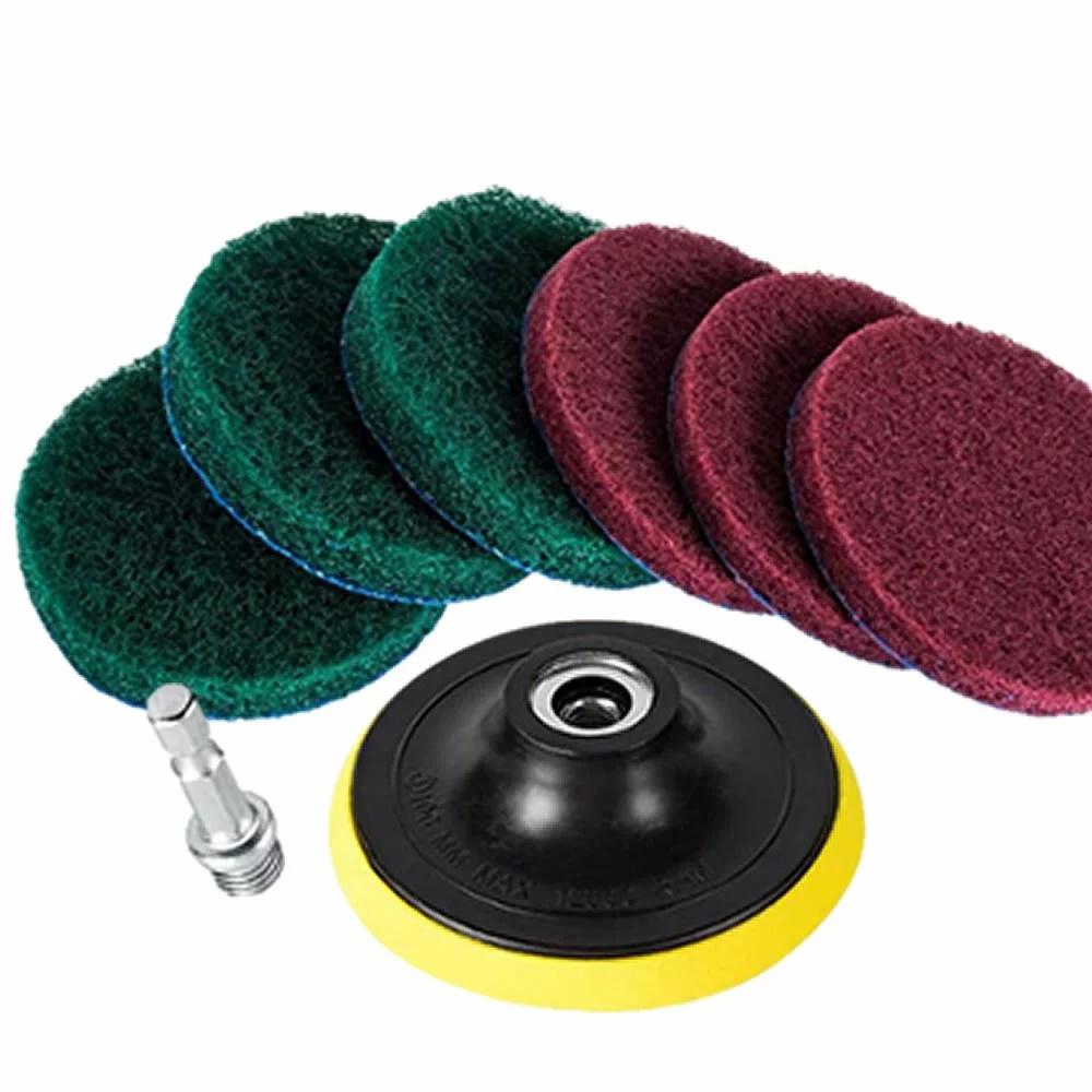 送料無料 ドライバー アタッチメントドリルブラシ 7点セット パワー スクラバー 掃除 磨き 全品送料無料 クリーニングtecc-brashbit 洗車 カーペット 大規模セール 研磨