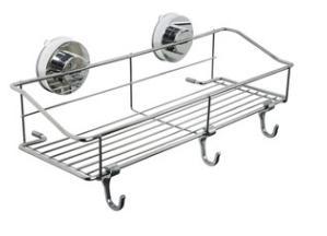 吸盤式コーナーラックコーナーにピッタリ風呂ラック強力吸盤トライアングルラック三角浴室用品お風呂用品バスルーム棚DAR-CORACK