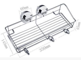浴室用ラック吸盤強力吸盤式マルチラック風呂ラック35cm幅石鹸バスルーム棚DAR-CORACKシャンプー収納【送料無料・一部地域除く】
