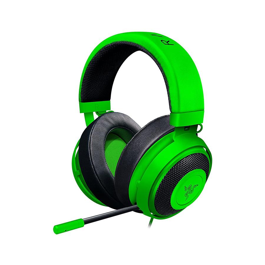 razer 無料サンプルOK kraken green ゲーミングヘッドセットrazer Razer レイザー 信頼 ミニプラグ接続 ゲーミングヘッドセット KRAKEN グリーン ケーブル長:1.3m GREEN