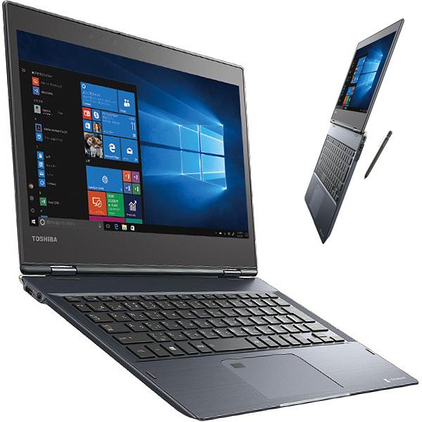 新古品 2017年夏モデル 美品 中古ノートパソコン 東芝 未使用品 SSD 2in1 dynabook VC72/D Core i3 8GBメモリ 12.5インチ Windows10 Office 付き 【新古】 【送料無料】