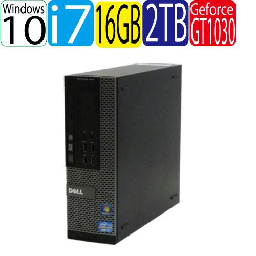 高品質の激安 DELL 9020SF Core i7 4770 3.4GHz メモリ16GB HDD2TB GeforceGT1030 HDMI Windows10 Pro 64bit 0008GR, 書道用品専門店 弘梅堂 76ca7658